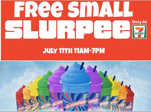 Free Slurpee Day at Seven Eleven